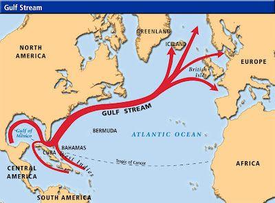 Gulf Stream Map  Geography  Pinterest  Ocean current