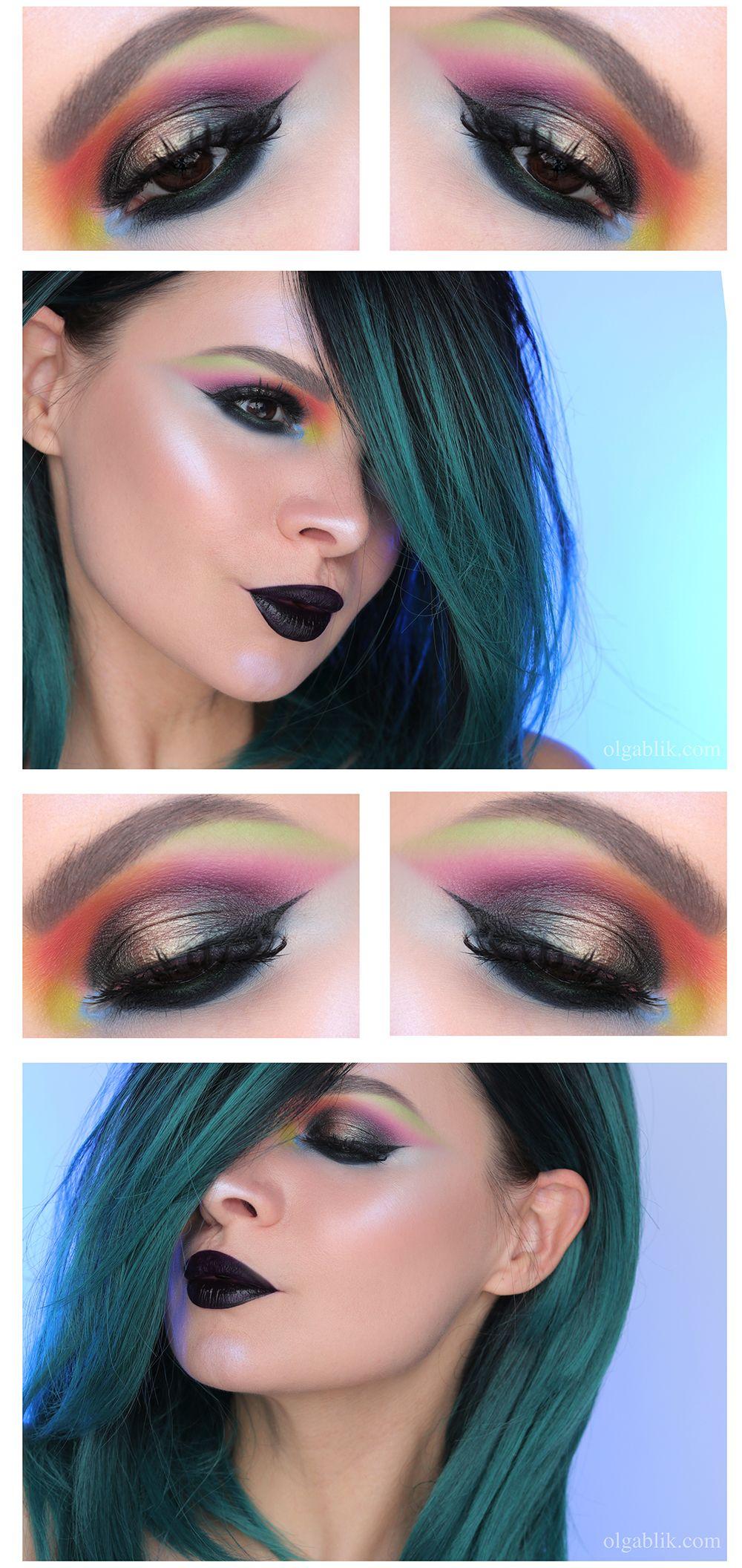 Цветной макияж со стрелками - оригинальная идея (фото ...
