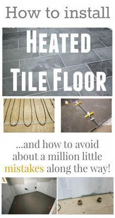 How to install heated tile floors in your home! Learn how to avoid all the little mishaps that can happen during the project! | Installing Bathroom Flooring | Cheap Flooring Ideas | Painted Wood Floors | Cheap Bathroom Flooring | Bathroom Flooring Home Depot | Most Sought After Flooring. Provide your bathroom style an increase with a little preparation and our inspirational restroom remodel... #cheaphomeremodeling #restroomremodel