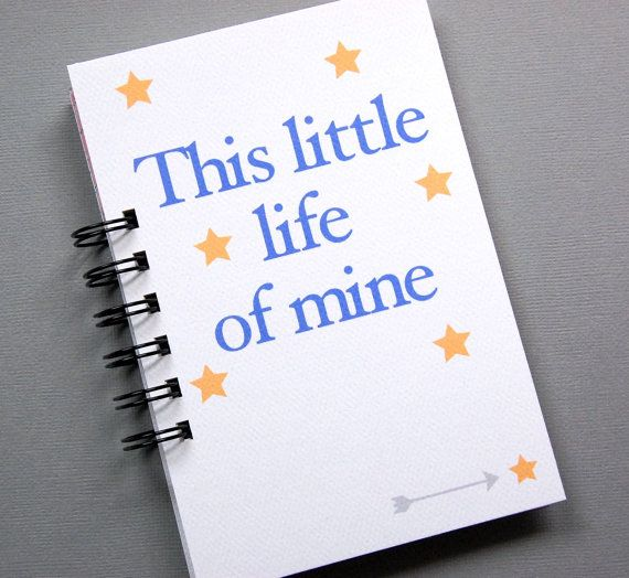 Notebook Journal This Little Life of Mine by ShopReminiscence, $19.00