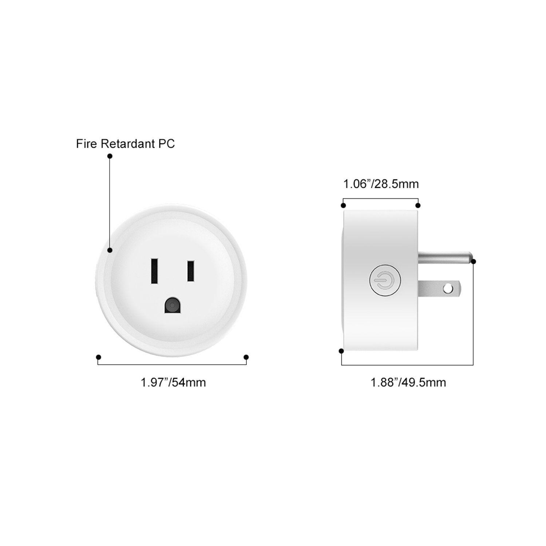 4X Wireless Smart Plug WiFi Sockets Power Socket Google Home IFTTT Amazon Alexa