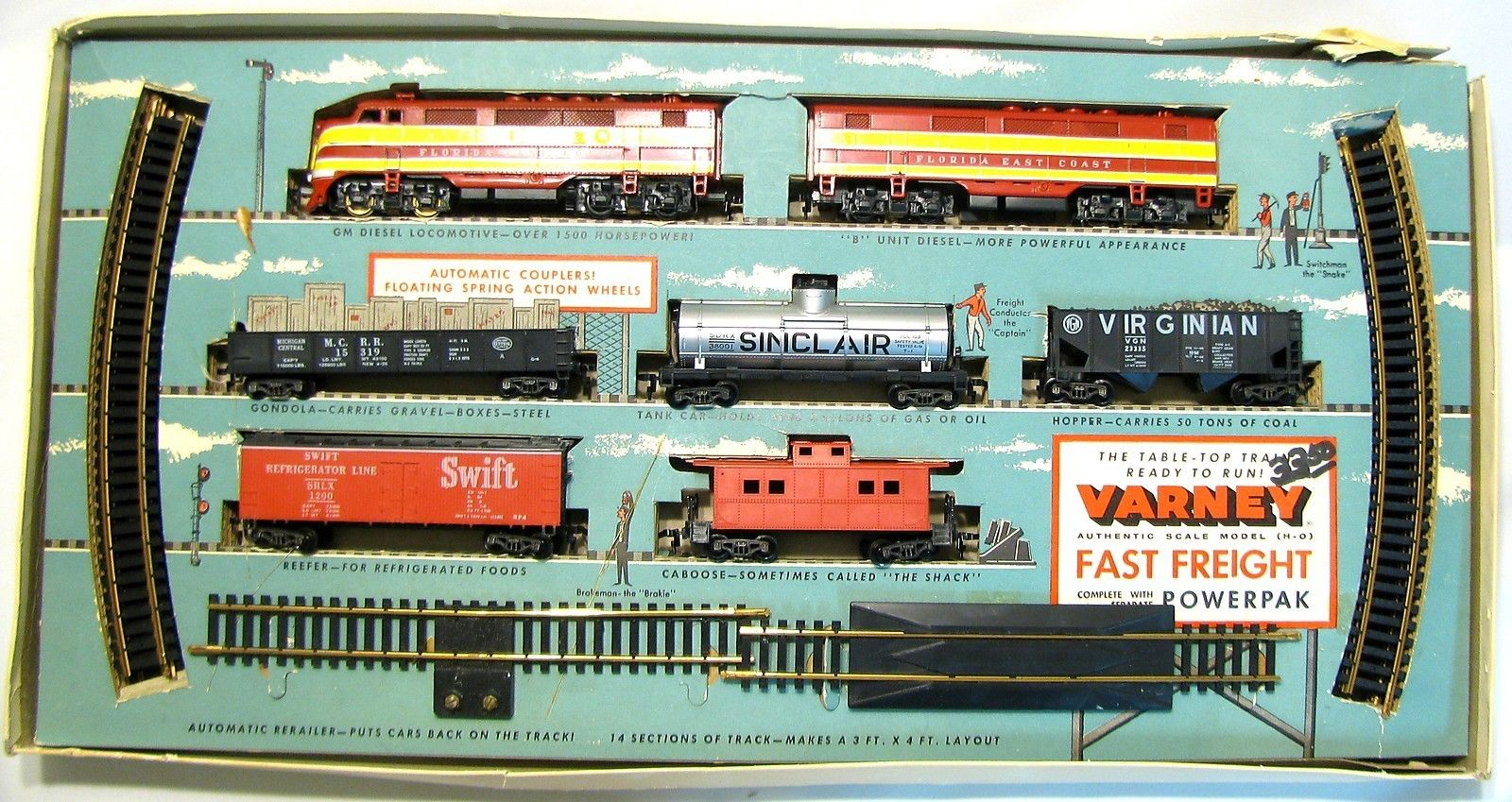Varney Fast Freight 43 Ho Scale Boxed Table Top Ready To