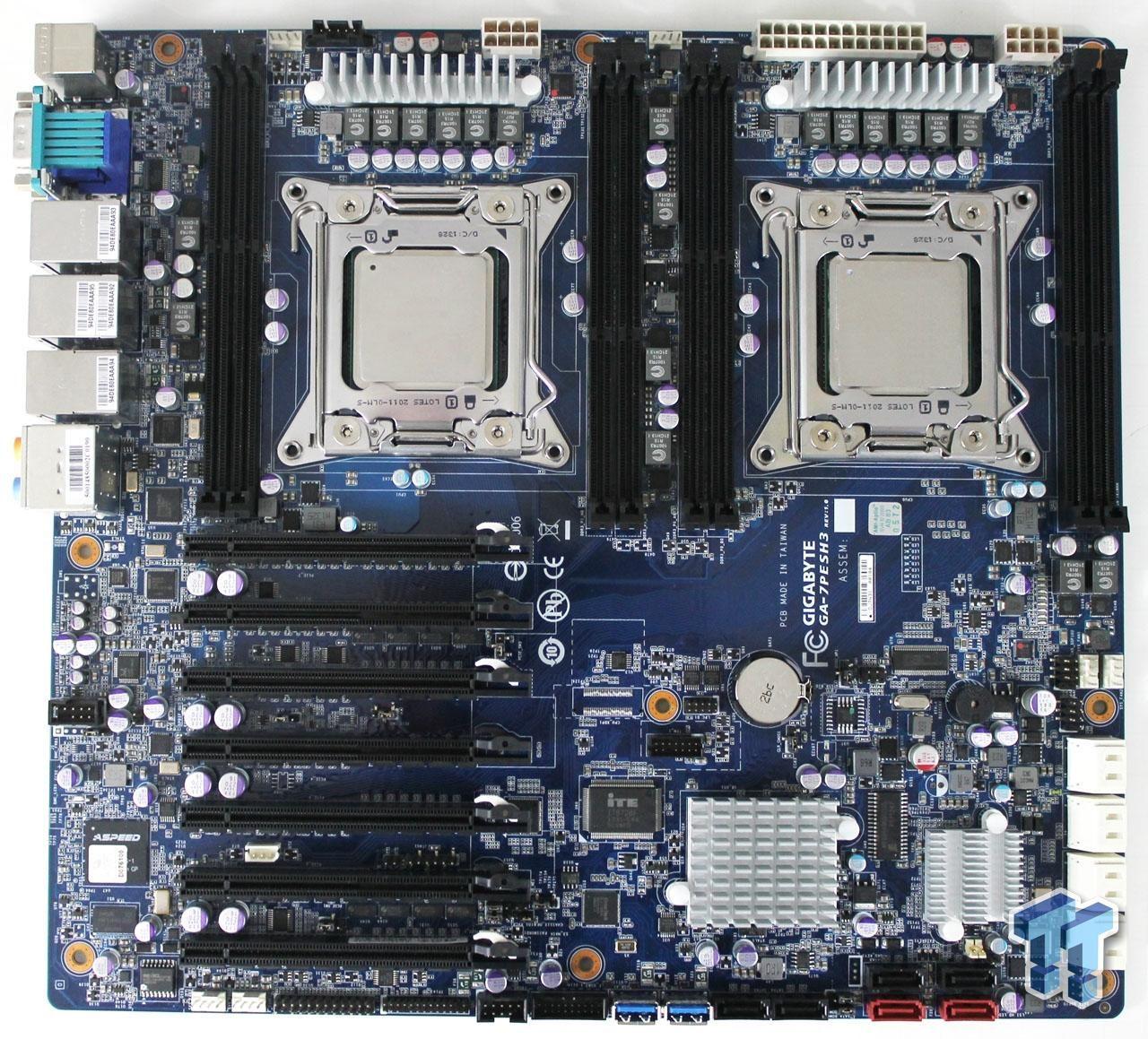 GIGABYTE GA-7PESH3 (Intel C602) Workstation Motherboard Review