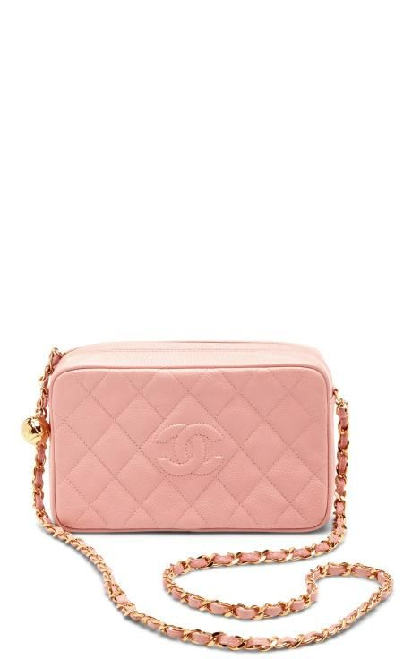 347bc3764e61 Vintage Chanel Pink Caviar Leather Camera Bag by What Goes Around Comes  Around for Preorder on Moda Operandi