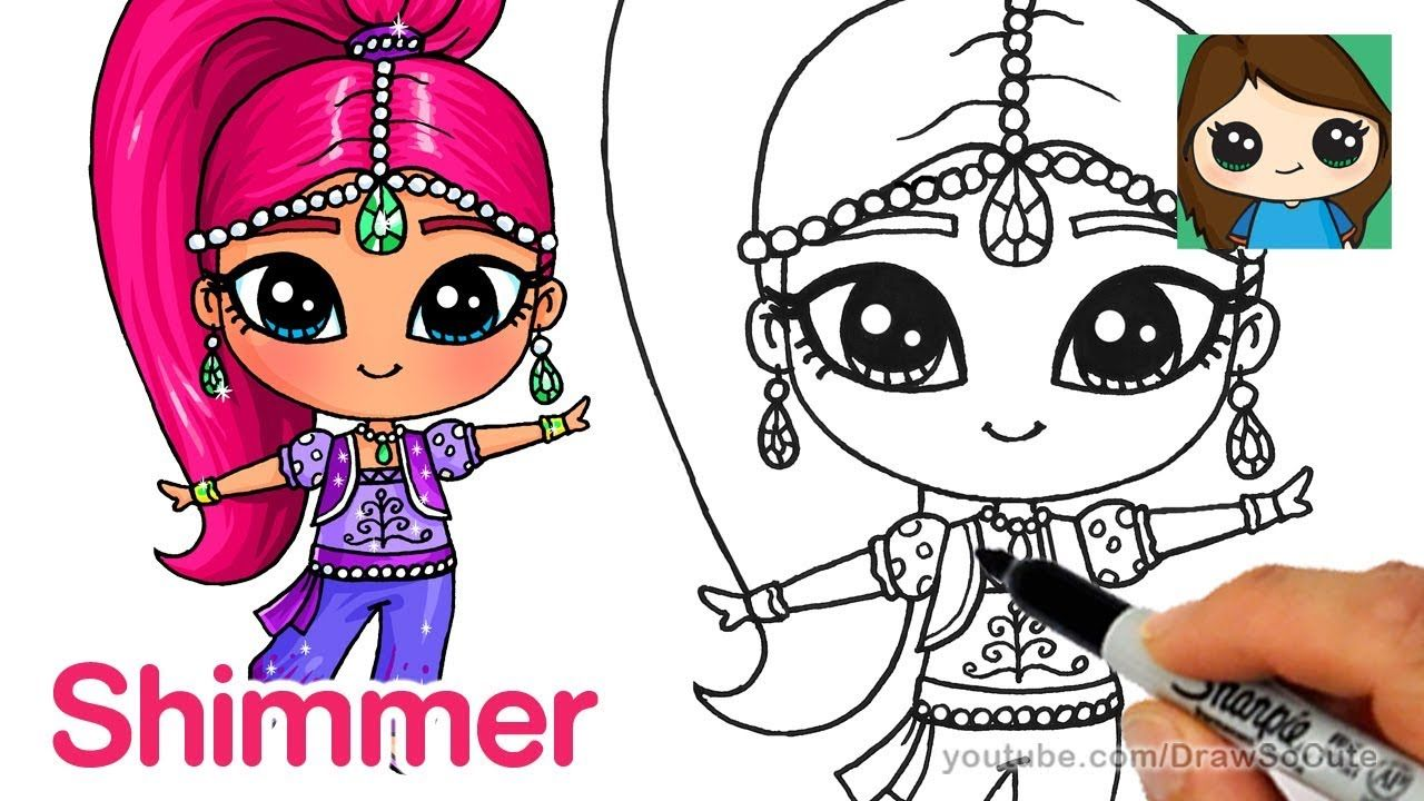 How To Draw Shimmer Shimmer And Shine Cute Easy Drawings Cute Drawings Drawings