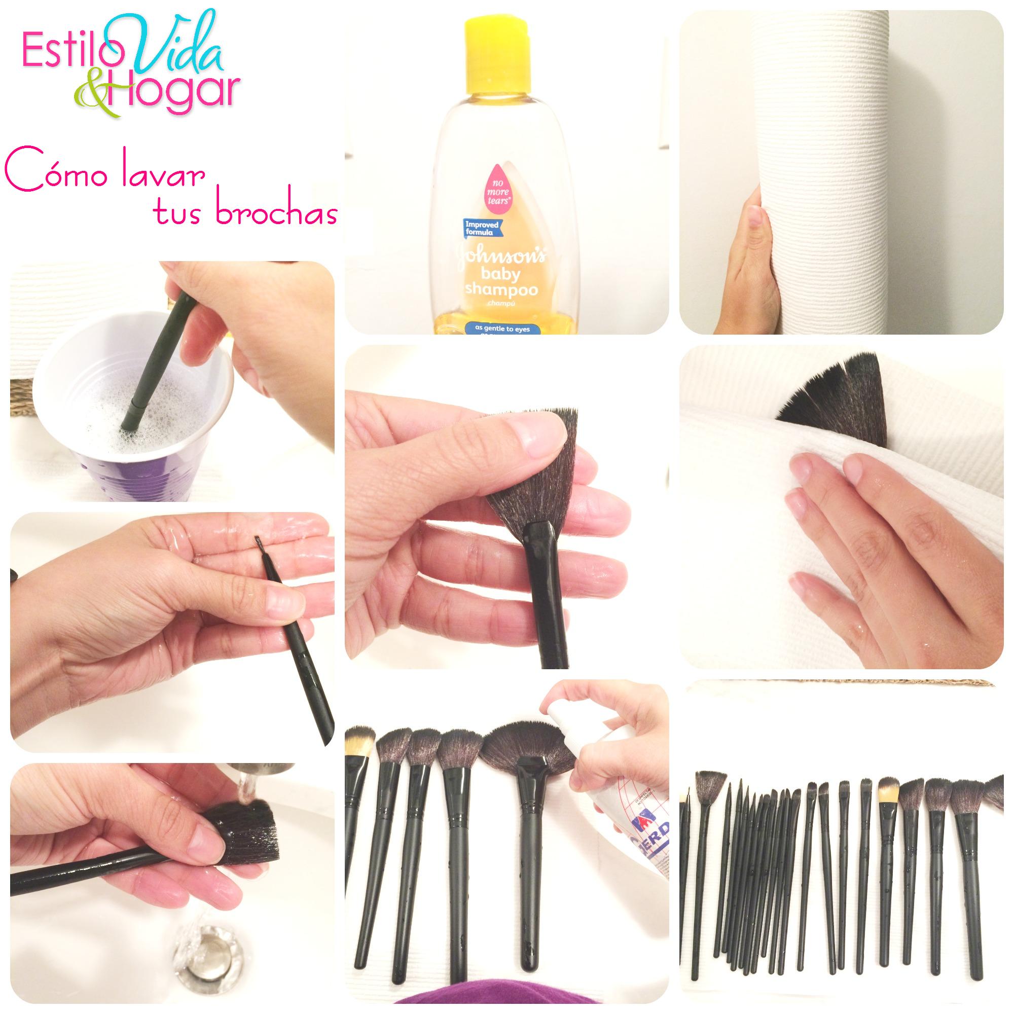 como lavar las brochas para maquillaje