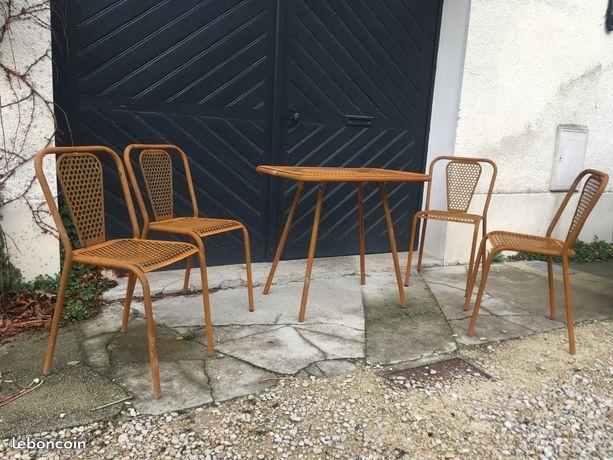 Salon de jardin metal / Designer René Malaval / Ameublement Aube ...