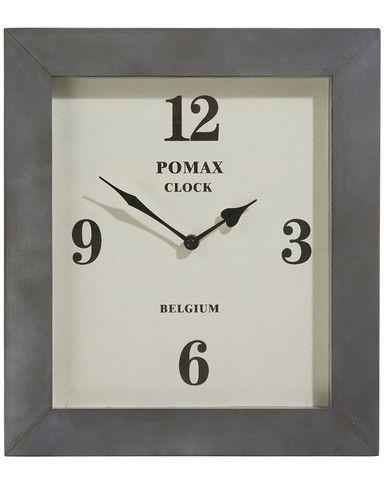 Paddington Contemporary Rectangular Wall Clock H 36 5cm Clock Wall Clock Clock Wall Decor