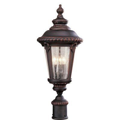 Trans Global Lighting 5047 Rt Estate 3 Light Outdoor Post