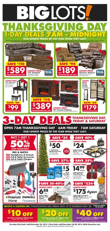 Big Lots Black Friday November 26 - 28, 2015 -   wwwkaitalog