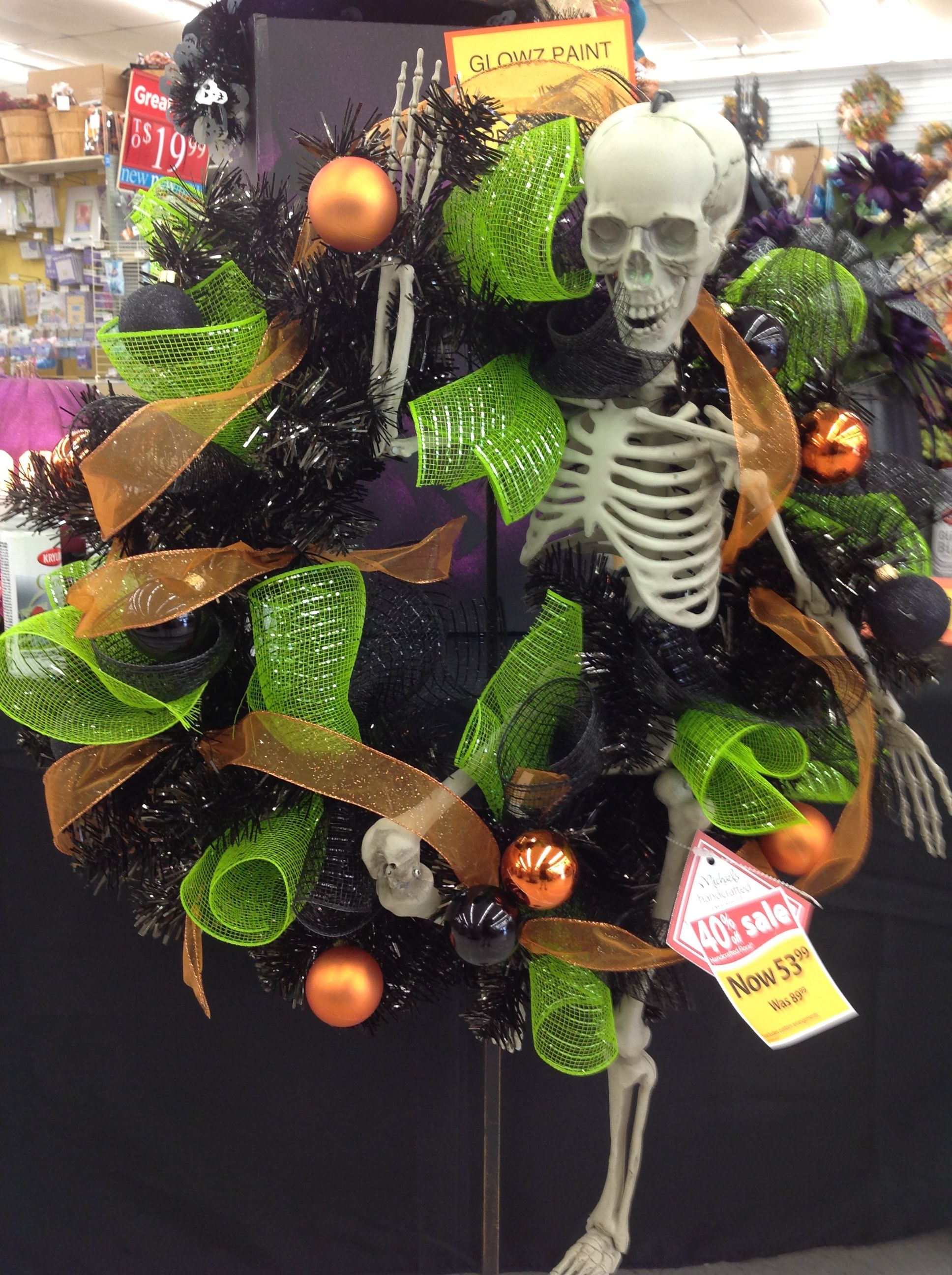 Talented Michael\u0027s Designers - Halloween Glow Painted skeleton - michaels halloween decorations
