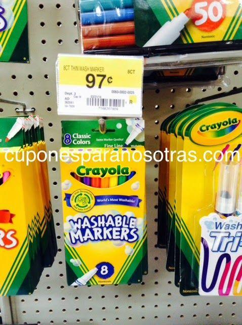 Walmart: Crayola Washable Markers 8 ct GRATIS!! EXPIRA 5/31 http ...