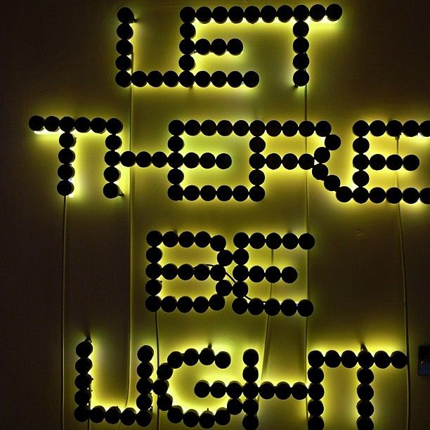 LET THERE BE LIGHT cool neon sign.