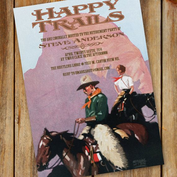 This vintage retirement invitation also nice as a birthday party – Order Party Invitations