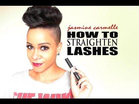 How to Straighten Lashes - YouTube   Straightener, Eyelashes