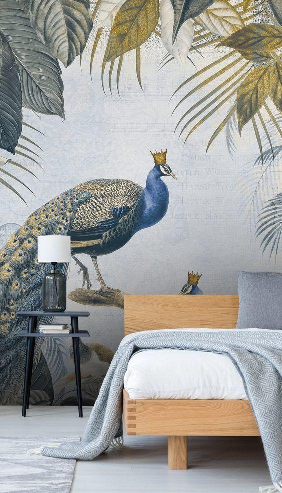 Fantastic Peacock Kings Peacock wallpaper, Mural