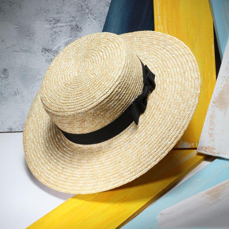 3f9ceb543edbf Unisex Sombreros de Paja Del Verano de Las Mujeres de Ala Ancha Plana Beach  Sunhat Sombreros Mujer hombre Sombrero Canotier Chapeu Masculino en  Sombreros de ...