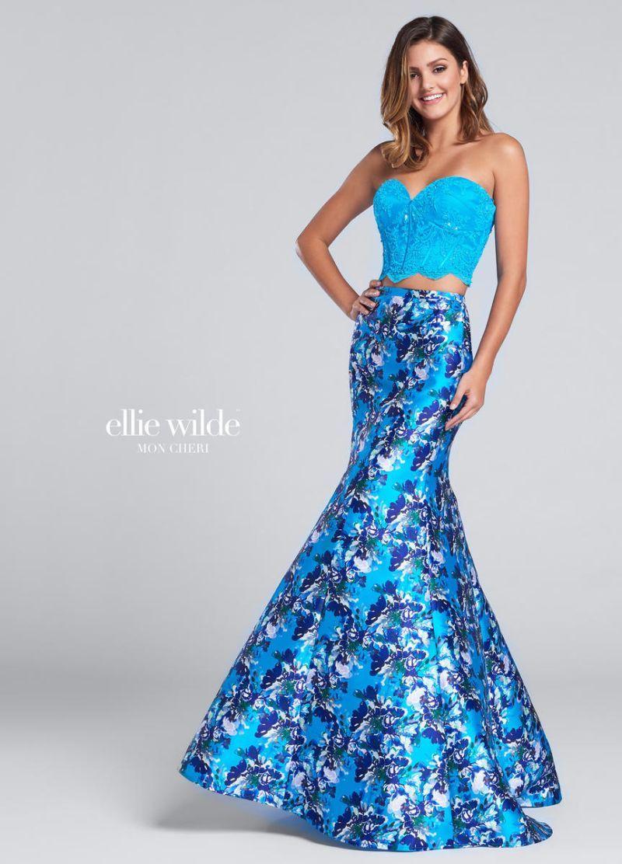 Ellie Wilde for Mon Cheri EW117168 is a strapless two-piece Ellie ...