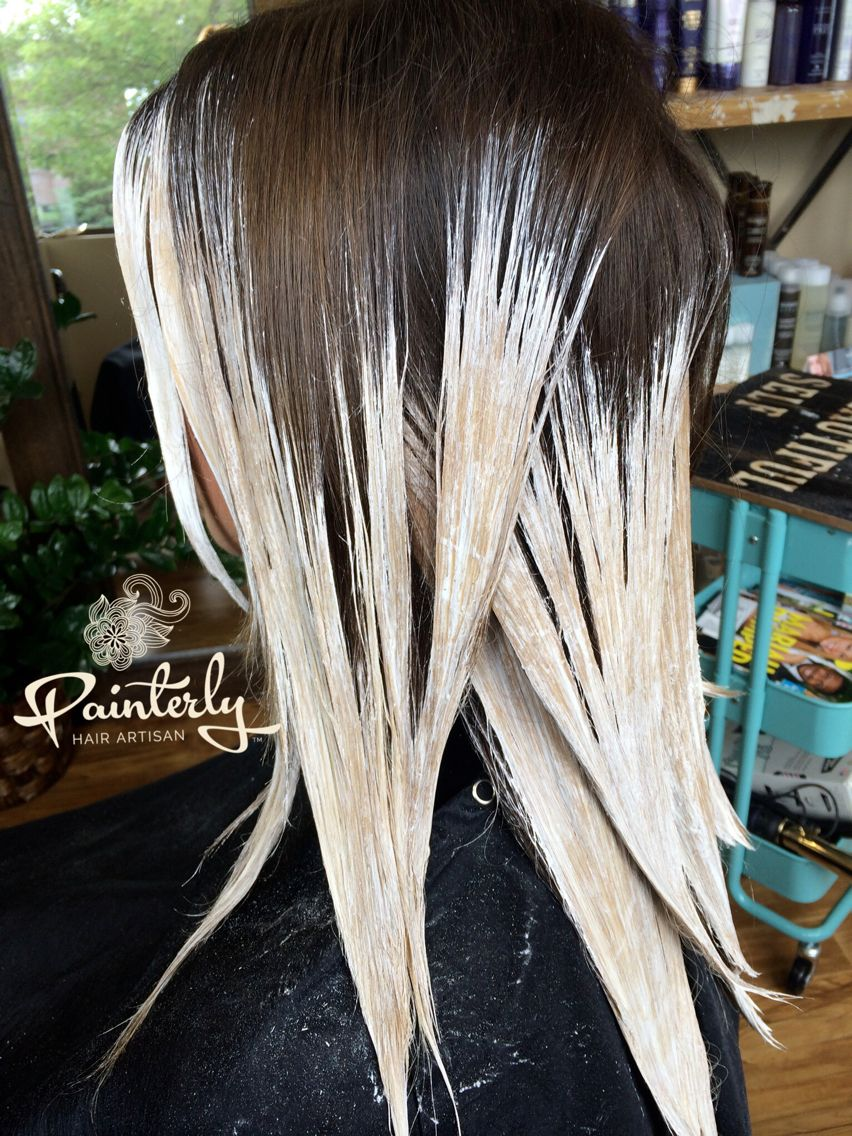 Hair Painting Gradation In Color Within The Highlights Surface