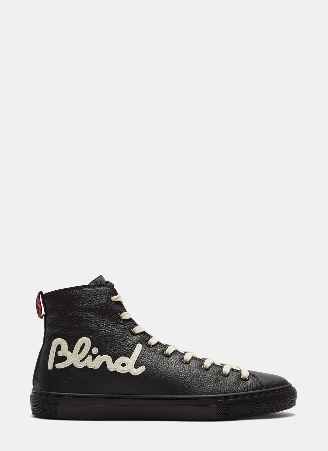 7f8caf9158ce GUCCI Blind For Love Embroidered High-Top Sneakers In Black.  gucci  shoes