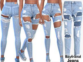 Pinkzombiecupcakes' Boyfriend Ripped Denim Jeans