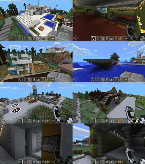 Modern City U0026 Army Base [Creation] Map For Minecraft PE 0.12.1