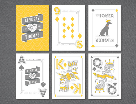 Just Launched Our Etsy Shop Custom Playing Cards Wedding Favor