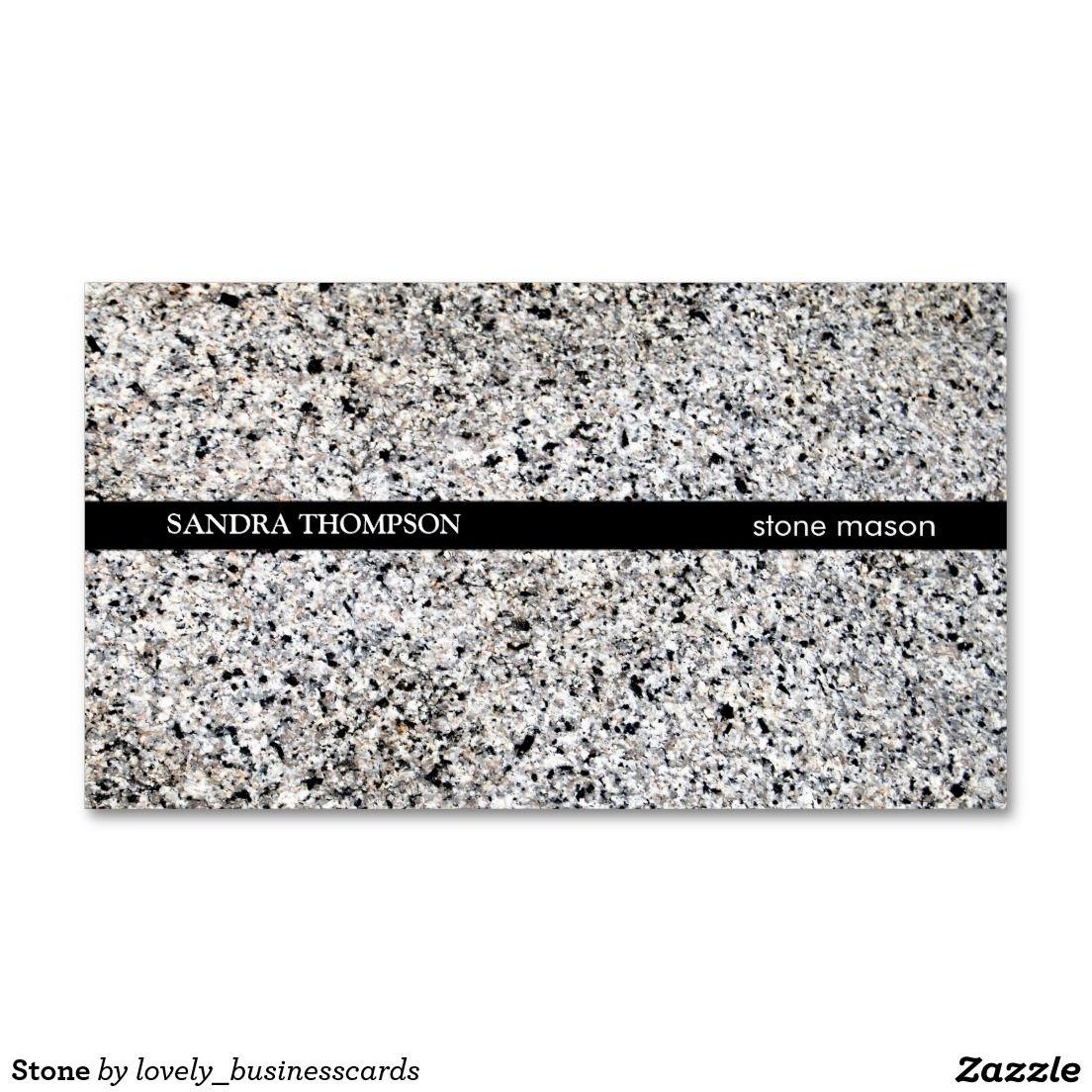 Stone Business Card Zazzle Com Business Cards Cards Stone
