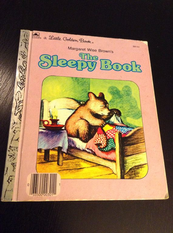a Little Golden Book The Sleepy Book by ReadingImagination on Etsy, $6.00