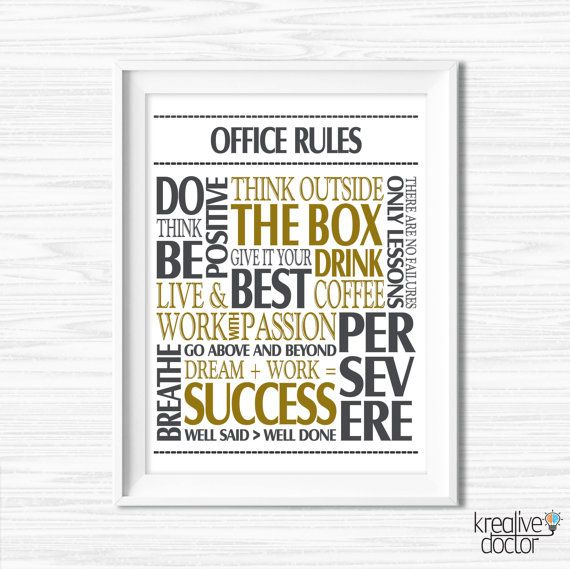 Etonnant Office Wall Art Motivational Wall Decor Inspirational Quote Success Quotes  Printable Office Quotes Poster Sayings Canvas Quotes Office Decor