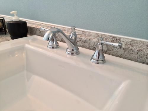 Delta Dryden Polished Nickel 2 Handle Widespread: Delta Silverton 8 In. Widespread 2-Handle Bathroom Faucet