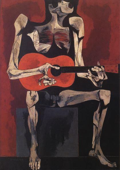 Oswaldo Guayasamin, El Guitarrista, 1977