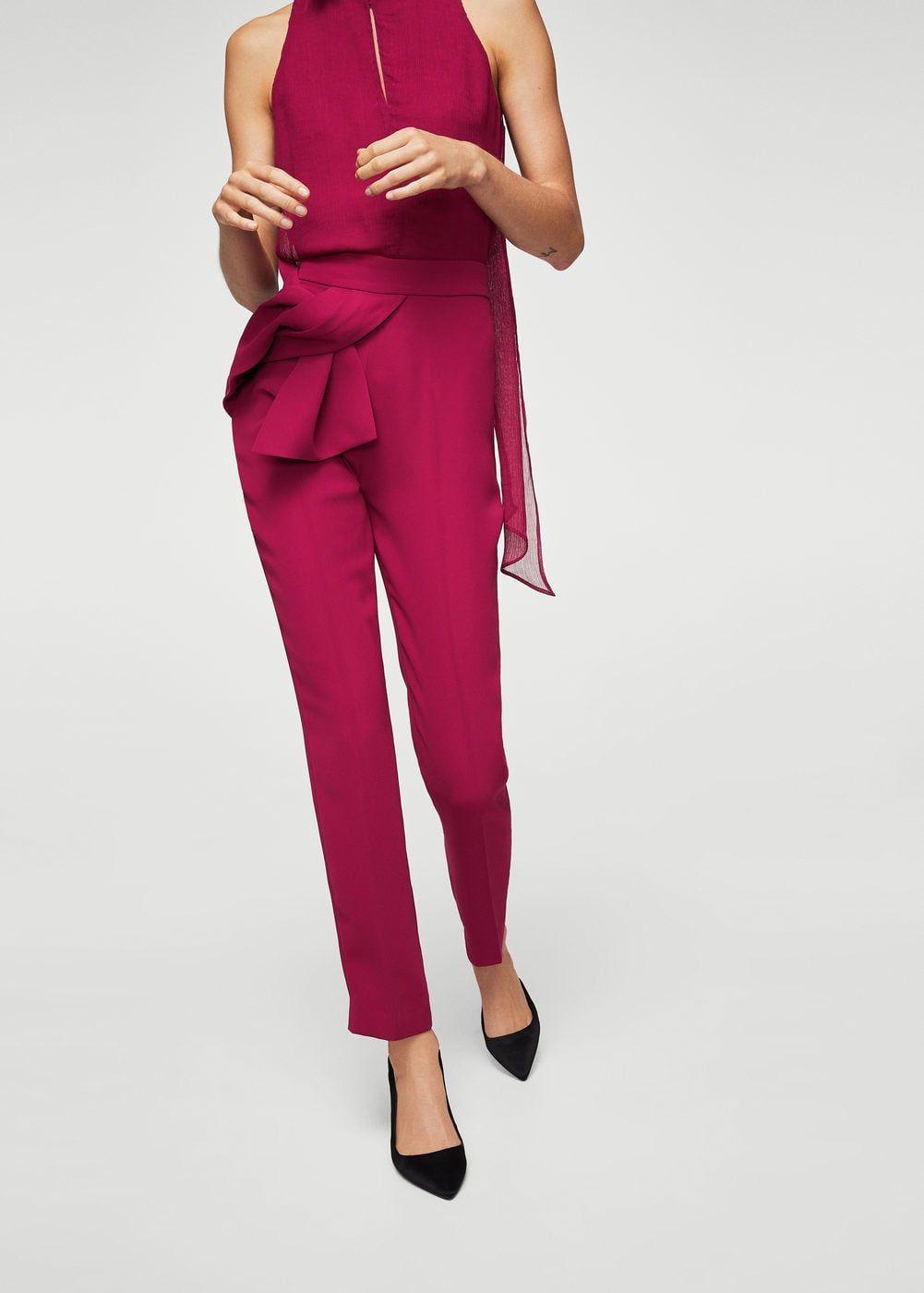 Pantalón detalle nudo - Pantalones de Mujer  bc59c8cbbf29
