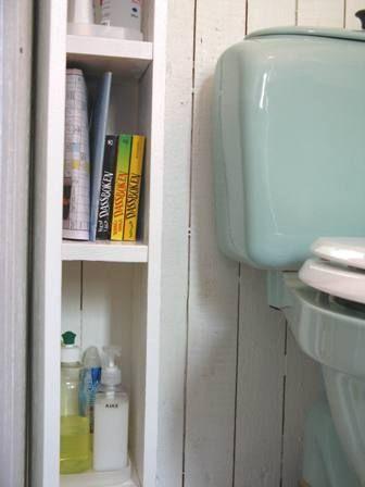 narrow bathroom shelves | super narrow shelf to the left of the ...