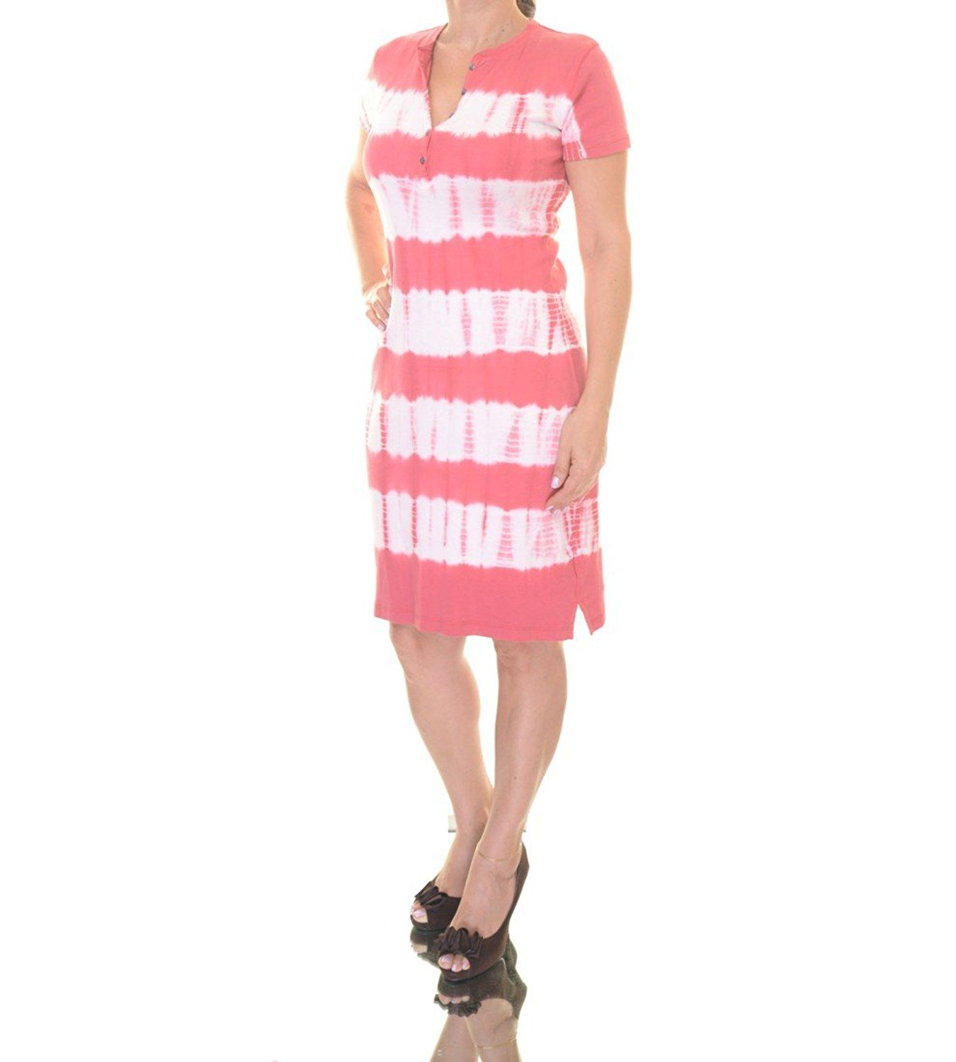American Living Womens Tie Dye Shirt Dress Additional Details At