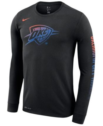 f8a252967 Nike Men's Oklahoma City Thunder Dry Mezzo Logo Long Sleeve T-Shirt - Black  XL
