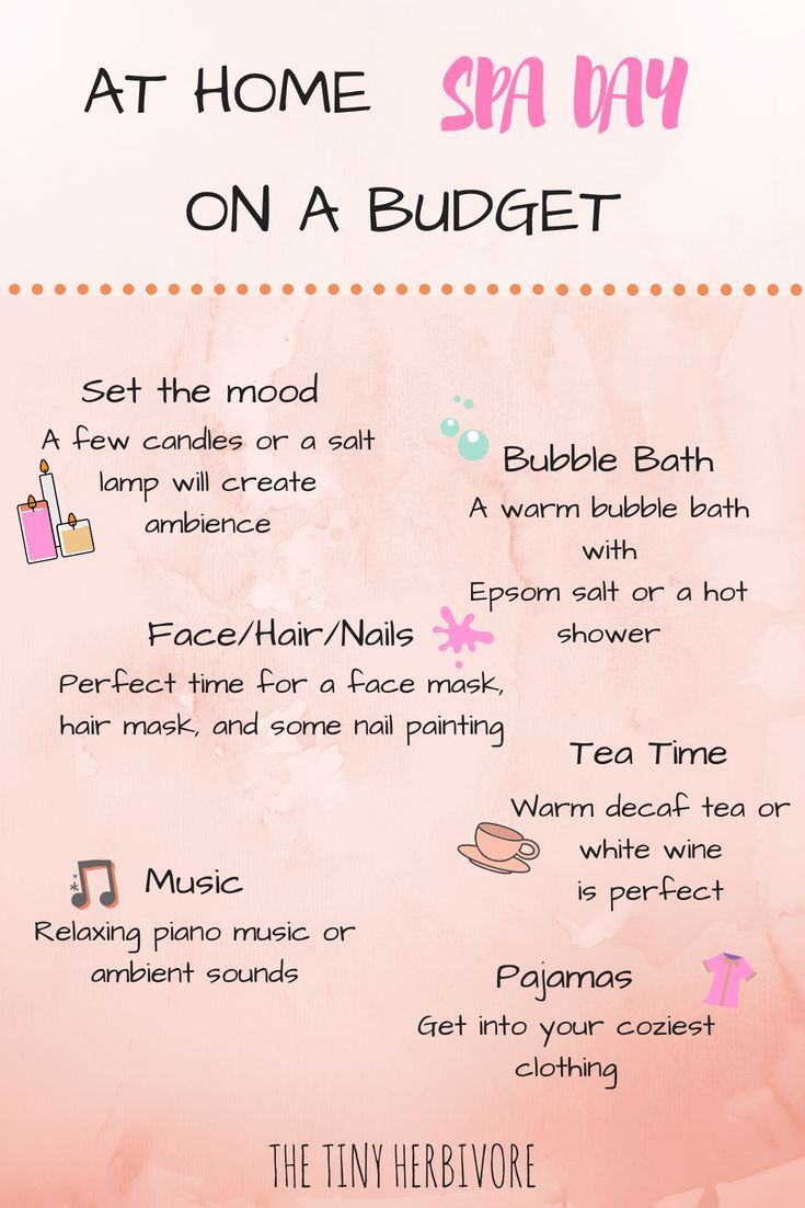 At home spa day on a budget diy spa day