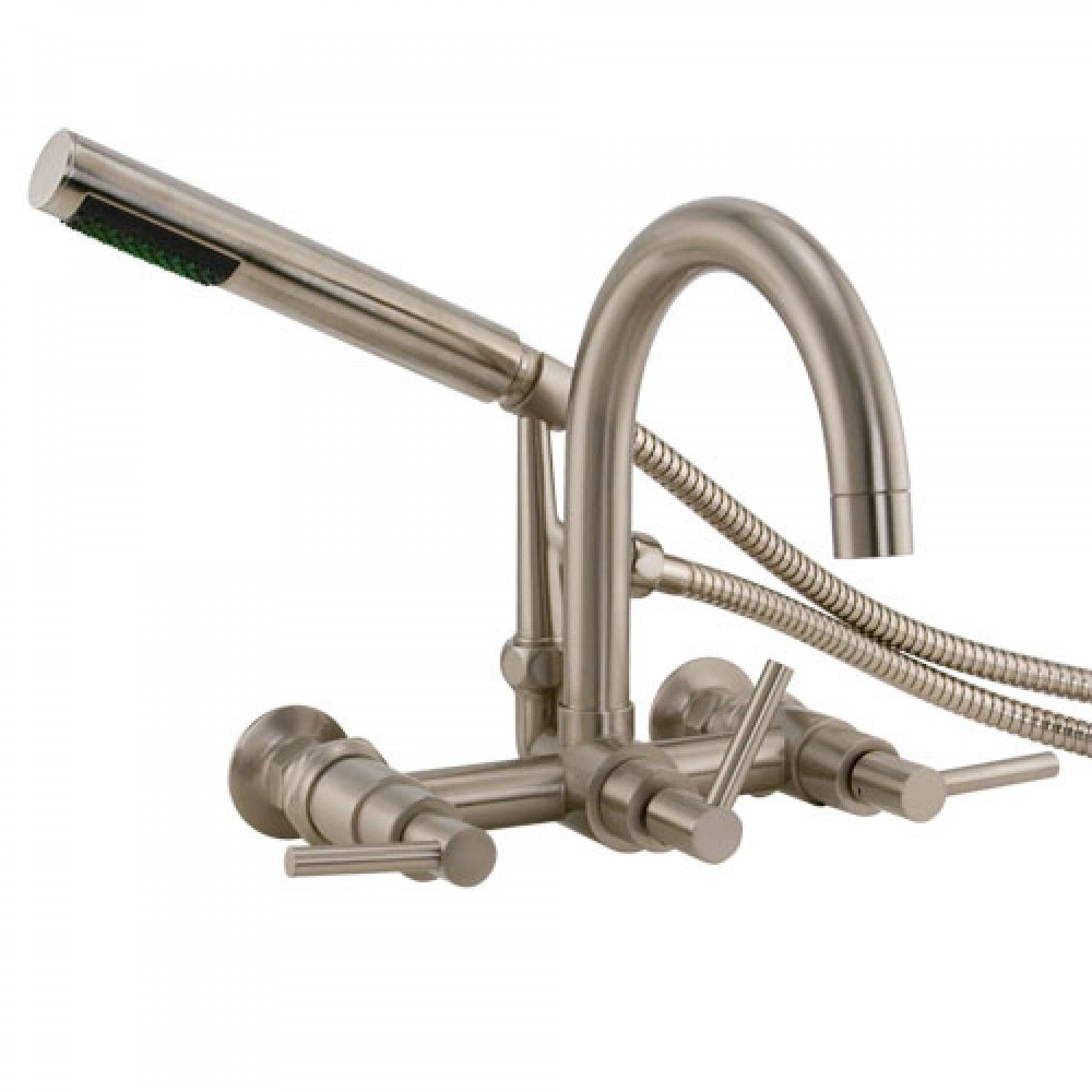 Sebastian Wall Mount Tub Faucet With Lever Handles And Wall