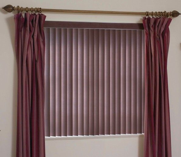 Decorating Brown Fabric Vertical Blinds For Window Treatments With Red Fabric Curtain And Classic Meta Vertical Blinds Valance Patio Blinds Horizontal Blinds