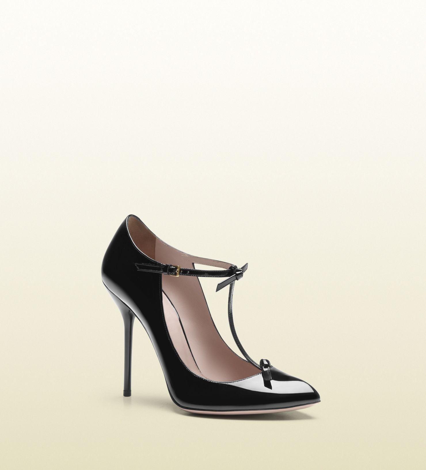 Gucci Pompes À Bride En T - Noir 114mna5B