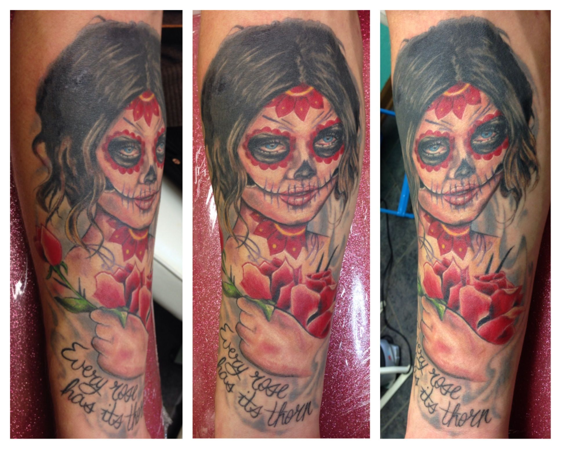 Tiffany Sutton Tattoo Artist: Day Of The Dead Lady Tattoo By Tiffany Michael