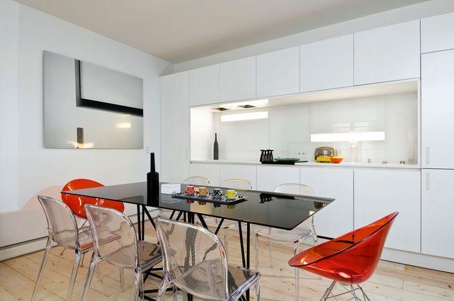 Une cuisine blanche ouverte sur le salon Deco Pinterest - como disear una cocina