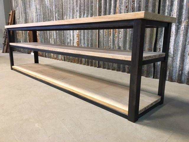 Tv Kast Industrieel : Oak tv industrial cupboard sidetable eiken tv kast industrieel