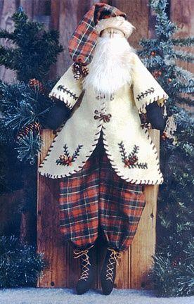 Woodland Santa Cloth Doll Pattern