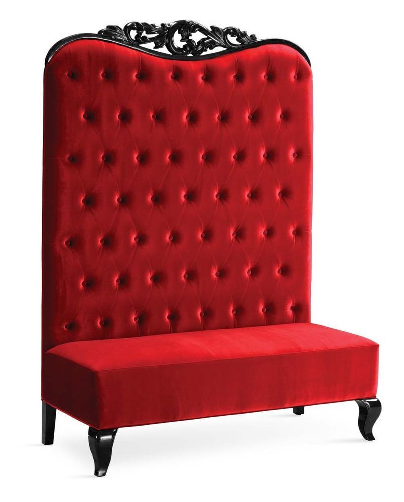 Chaise High Back Sofa Double Chair Adonis Ii Red