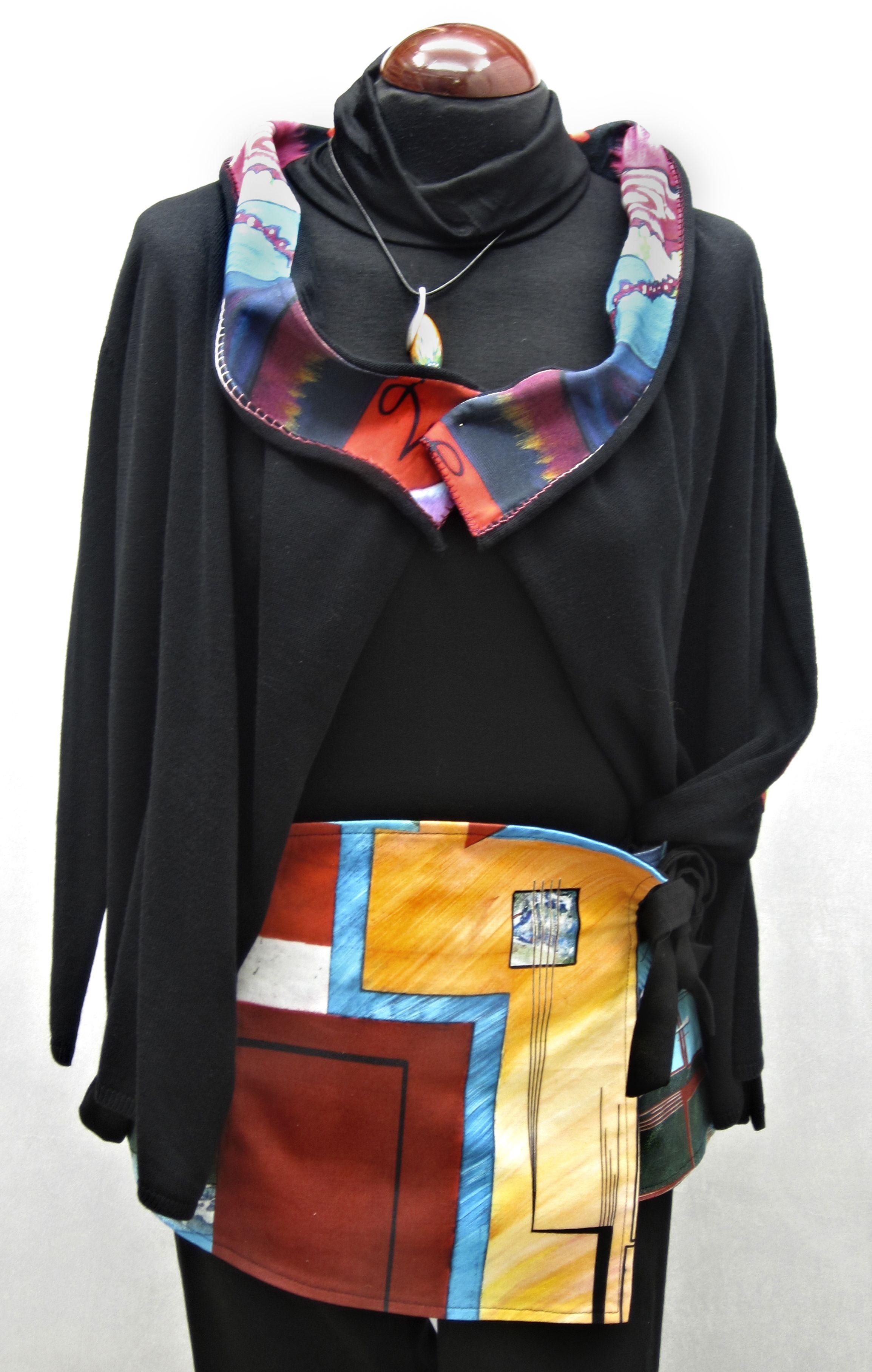 Chaqueta y falda diseñadas por Maite Cobo de la colección Vas hecha un cuadro