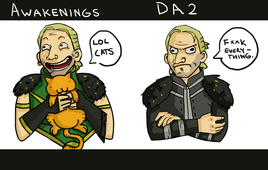 Yea seriously... WTH?! (Dragon Age 2 Anders' Awakening by ~Fish-Box)