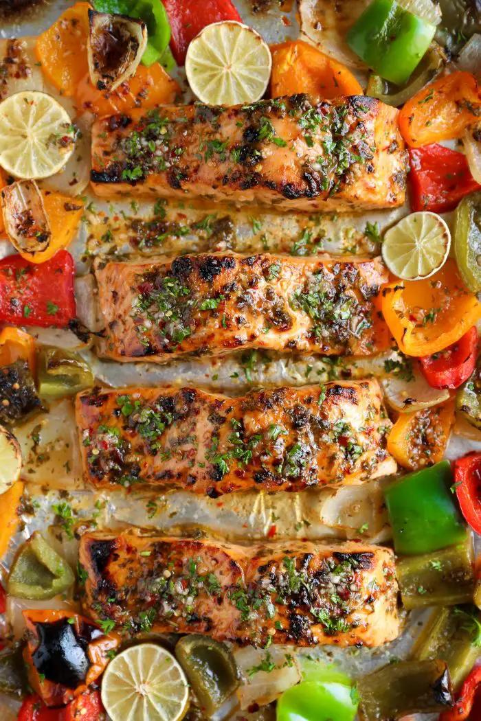 Chili Lime Orange Glazed Salmon Recipe - The Forked Spoon