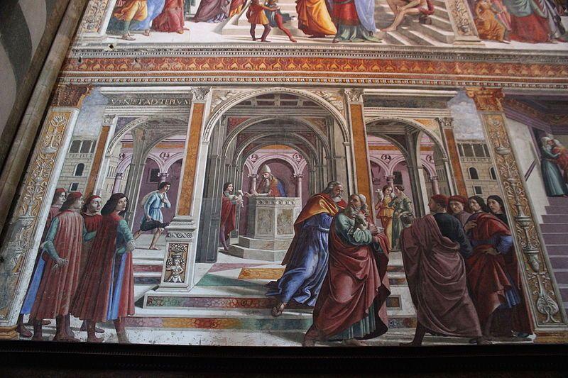 Italian Florence: 1486-90.Domenico Ghirlandaio. Expulsion Of Joachim From