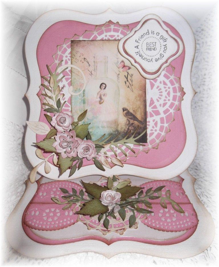 Beautiful Easel card Shaped cards, Card tutorials